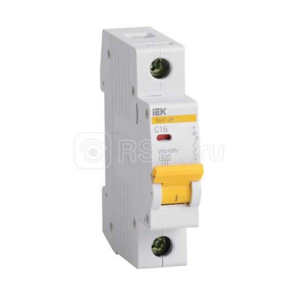 Выключатель автоматический модульный 1п C 25А 4.5кА ВА47-29 ИЭК MVA20-1-025-C