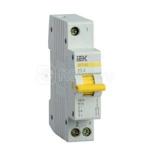 Выключатель-разъединитель трехпозиционный 1п ВРТ-63 25А ИЭК MPR10-1-025