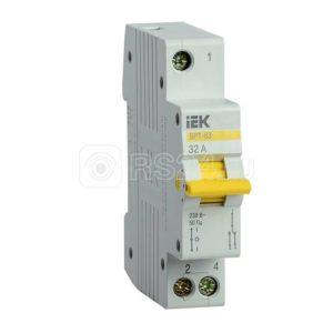 Выключатель-разъединитель трехпозиционный 1п ВРТ-63 32А ИЭК MPR10-1-032
