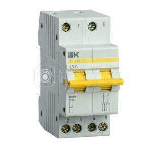Выключатель-разъединитель трехпозиционный 2п ВРТ-63 25А ИЭК MPR10-2-025