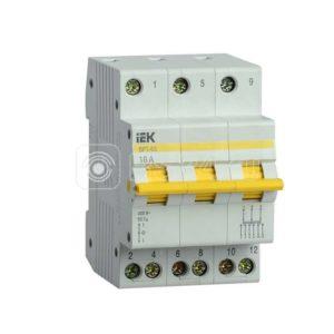 Выключатель-разъединитель трехпозиционный 3п ВРТ-63 16А ИЭК MPR10-3-016