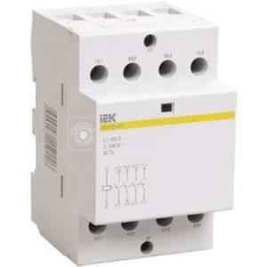 Контактор модульный КМ40-40 40А/4п 400В AC/DC ИЭК MKK20-40-40