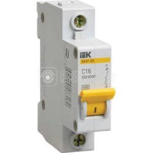 Выключатель автоматический модульный 1п C 20А 4.5кА ВА47-29 ИЭК MVA20-1-020-C