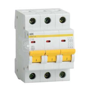 Выключатель автоматический модульный 3п C 40А 4.5кА ВА47-29 ИЭК MVA20-3-040-C