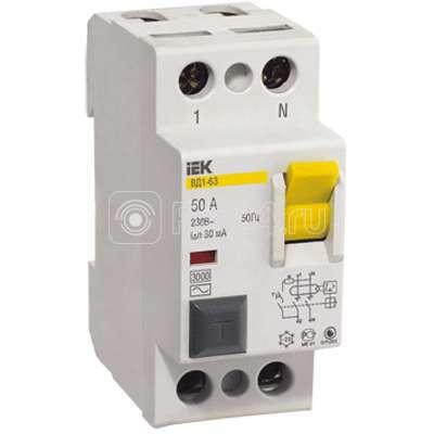 Выключатель дифференциального тока (УЗО) 2п 40А 30мА тип AC ВД1-63 ИЭК MDV10-2-040-030