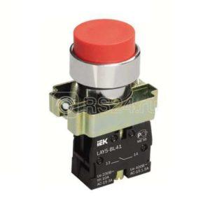 Кнопка LAY5-BL21 без подсветки черн. 1з ИЭК BBT70-BL-K02