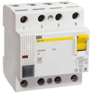 Выключатель дифференциального тока (УЗО) 4п 40А 30мА тип AC ВД1-63 ИЭК MDV10-4-040-030