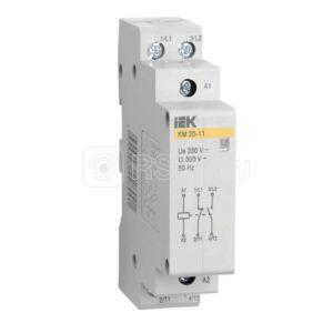 Контактор модульный КМ20-11 20А/2п 1з AC ИЭК MKK10-20-11