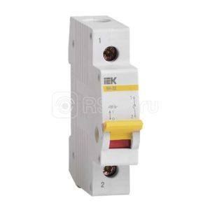 Выключатель нагрузки ВН-32 63А/1П ИЭК MNV10-1-063