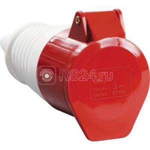 Розетка кабельная 32А 380В 3P+PЕ ССИ-224 IP44 ИЭК PSR22-032-4