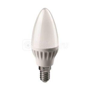Лампа светодиодная 71 629 OLL-C37-6-230-4K-E14-FR 6Вт свеча 4000К белый E14 470лм 176-264В ОНЛАЙТ 71629