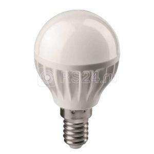 Лампа светодиодная 71 644 OLL-G45-6-230-4K-E14 6Вт шар 4000К белый E14 470лм 176-264В ОНЛАЙТ 71644