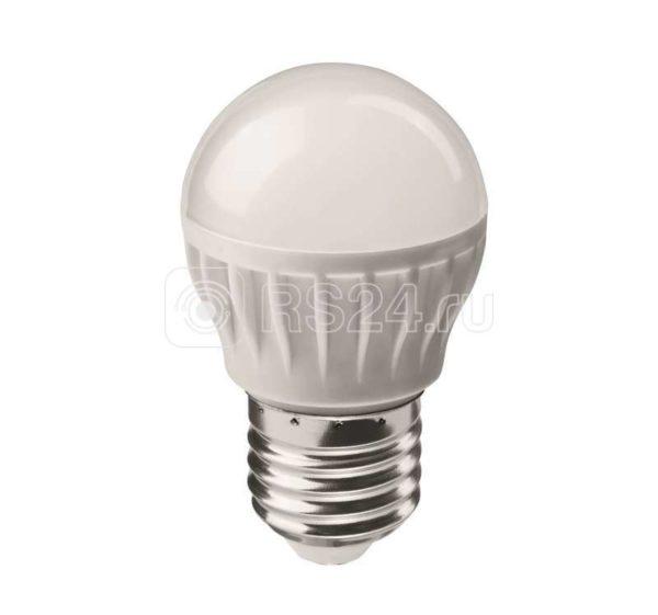 Лампа светодиодная 71 646 OLL-G45-6-230-4K-E27 6Вт шар 4000К белый E27 470лм 176-264В ОНЛАЙТ 71646