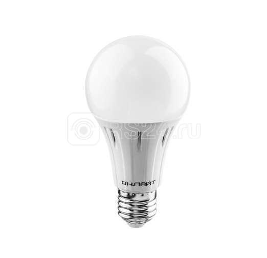 Лампа светодиодная 71 682 OLL-A65/А60-12-230-2.7K-E27 12Вт шар 2700К тепл. бел. E27 1000лм 176-264В ОНЛАЙТ 71682