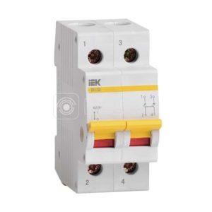 Выключатель нагрузки ВН-32 63А/2П ИЭК MNV10-2-063