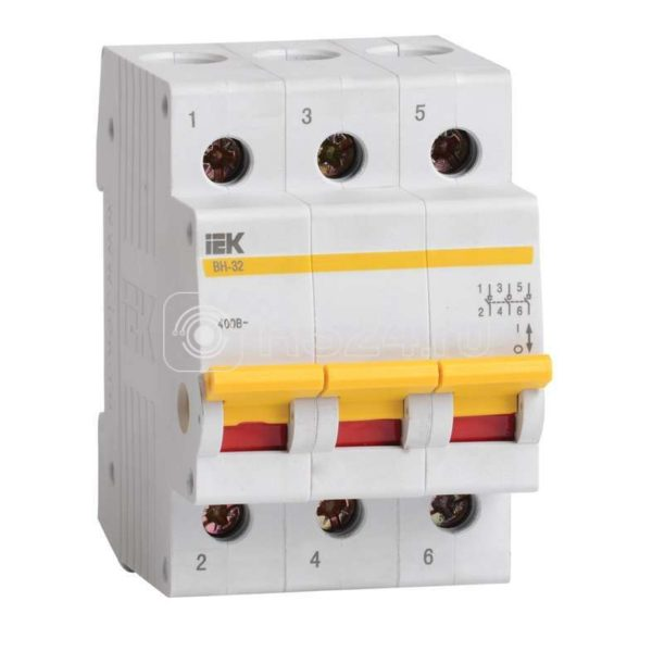 Выключатель нагрузки ВН-32 63А/3П ИЭК MNV10-3-063