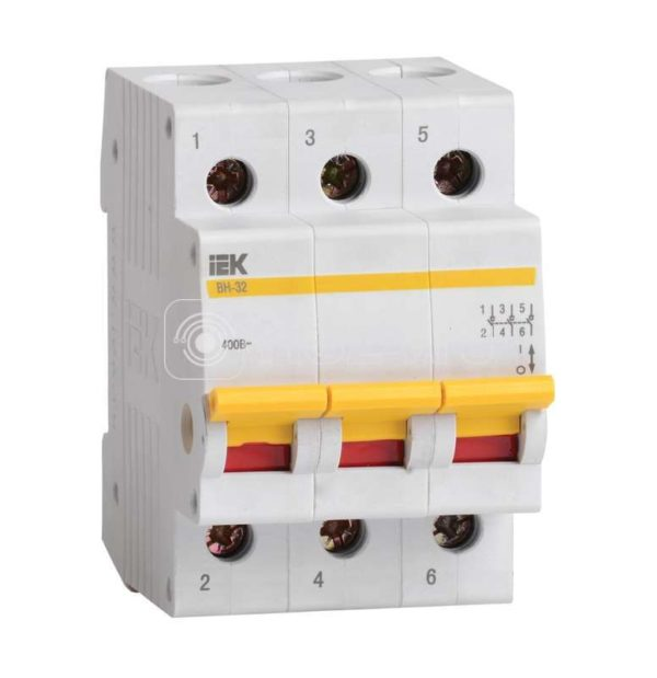 Выключатель нагрузки ВН-32 20А/3П ИЭК MNV10-3-020