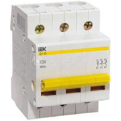 Выключатель нагрузки ВН-32 40А/3П ИЭК MNV10-3-040