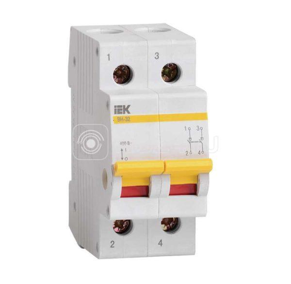 Выключатель нагрузки ВН-32 25А/2П ИЭК MNV10-2-025
