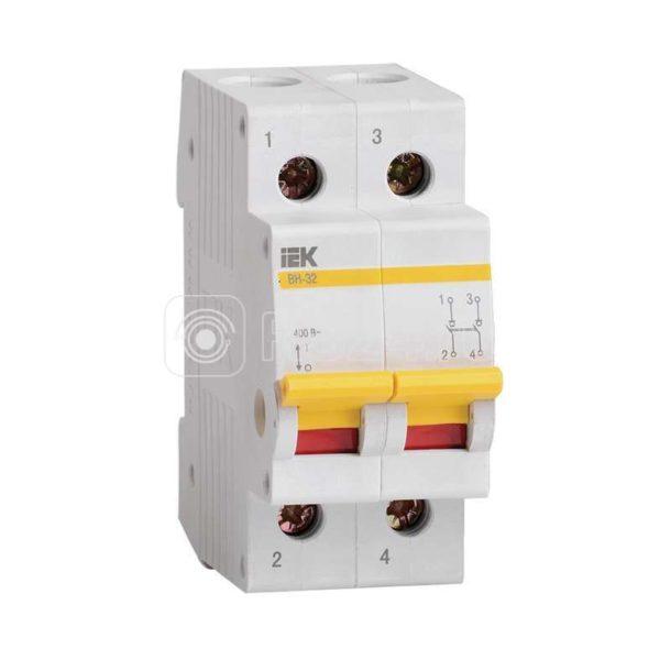 Выключатель нагрузки ВН-32 100А/2П ИЭК MNV10-2-100
