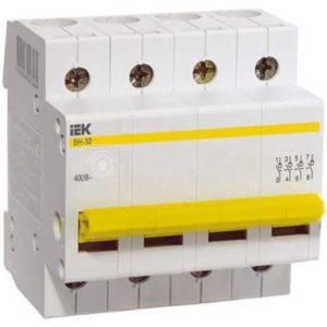 Выключатель нагрузки ВН-32 100А/4П ИЭК MNV10-4-100