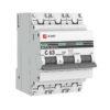 Выключатель автоматический модульный 3п C 10А 4.5кА ВА 47-63 PROxima EKF mcb4763-3-10C-pro