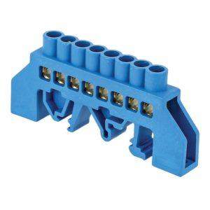 Шина нулевая ШНИ-6х9-8 синяя