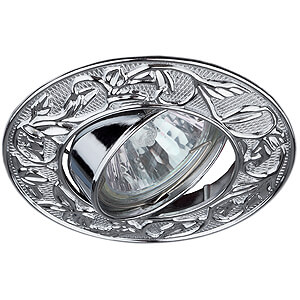 Эра светильник литой, поворотный, лианы MR16 хром