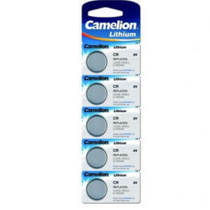 Camelion CR2016 BL-5 (CR2016-BP5, батарейка литиевая,3V) табл.