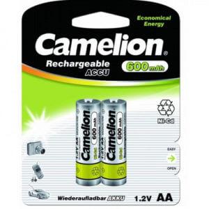 Camelion   AA- 600mAh Ni-Cd BL-2 (NC-AA 600 BP2, аккумулятор,1.2В)