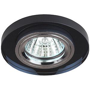 Эра светильник декоративный, стекло круглое MR16 хром/черный