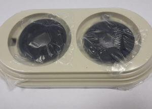 Bironi Рамка 2-х постовая пластик, слоновая кость