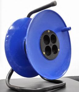 Катушка с розетками пустая 4-я б/з синяя