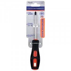 Park Отвертка (+) PH2x100мм 2к ручка OTV009DK, 356009