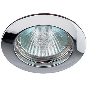 Эра светильник литой, простой MR16 хром