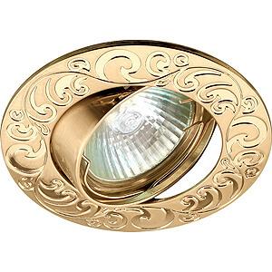 Эра светильник литой, поворотный, лианы 1, MR16 золото