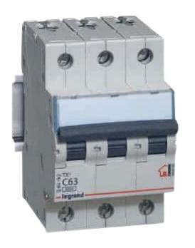 Legrand TX3 Автоматический выключатель 3/63А