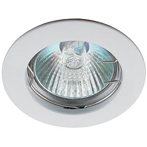 Эра светильник литой, простой MR16 белый