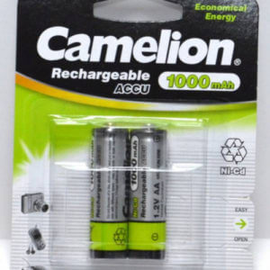 Camelion   AA-1000mAh Ni-Cd BL-2 (NC-AA 1000 BP2, аккумулятор,1.2В)