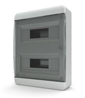 Tekfor бокс навесной 24 мод. IP41, прозрачная черная дверца