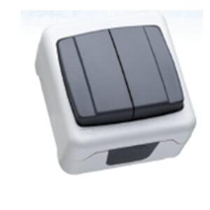 Макел IP55 герметик выключатель 2 кл. серый