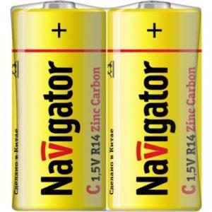 Батарейка Navigator  NBT-NS-R14-SH2 ( тип С ) уп. 2/24