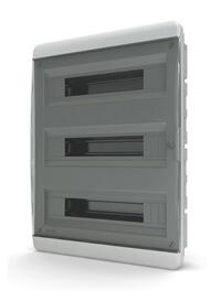 Tekfor бокс встраиваемый 54 мод. IP41, прозрачная черная дверца