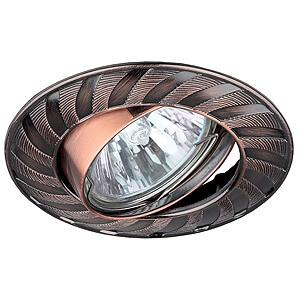 Эра светильник литой, поворотный, колесо MR16 медь