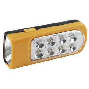 ТРОФИ фонарь светодиодный 2 в 1 (8Led+1Led), пластик, TKB8L