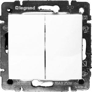 Legrand Valena Выключатель 2кл. белый