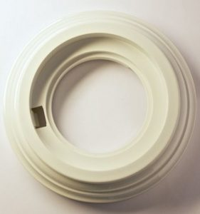 Bironi Рамка 1 постовая пластик белый