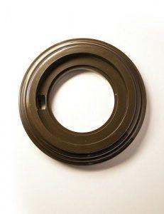 Bironi Рамка 1 постовая пластик коричневый