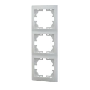 Lezard MIRA рамка 3-я вертикаль белая