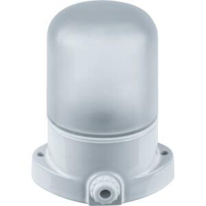 Светильник НПБ400 для сауны настенно-потолочный белый, IP54, 60Вт